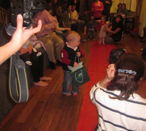 Birthday boy is walking the red carpet..priceless!