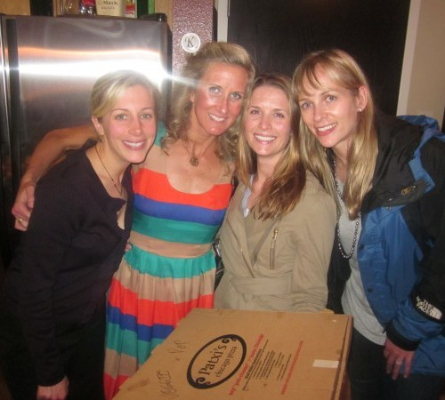 Paxti's Pizza night (thanks Michelle!!) w/ Andi, Raz and Tiff.