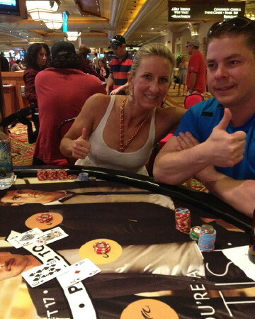 A lucky moment here...Kessler family blackjack!