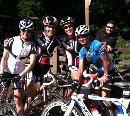 Coast ride day 2 in the books! Happy days w/ K, K and J