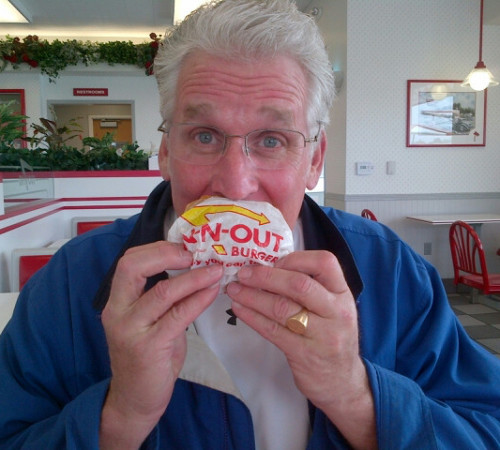 Dado trying IN&OUT for the first time..