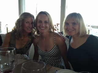 Day 1 of Coast Ride..dinner out in Santa Cruz w/ Debtastic and D.