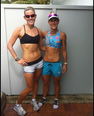 HPB is ready to dominate (as is the CAT in ST. G!) this weekend at Urban Hotel Group Ironman Australia--could she and BG look any fitter or prettier?  BEAUTIFUL LADIES! xoxo