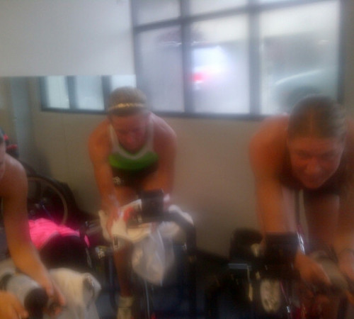 Tenille joined Jess and I for our Wednesday GCBU session at VELO SF!  Embracing it here for sure!