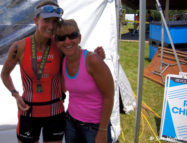Meredith Kessler triathlete Sue Hutter friend photographer Rev3Portland
