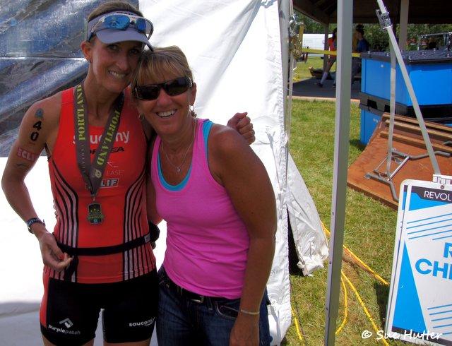 Meredith Kessler triathlete Sue Hutter friend photographer Rev3Portland