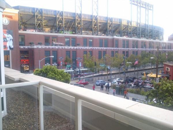 Meredith Kessler Giants baseball stadium after world series victory