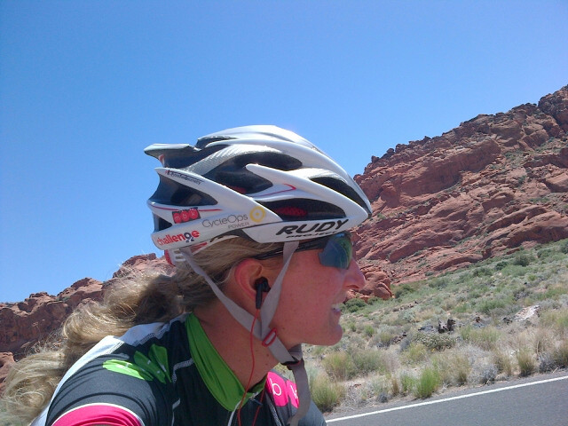 Meredith Kessler Ironman St. George Red Rocks Cycling