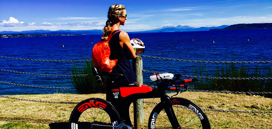 Meredith Kessler triathlete Ironman New Zealand Lake Taupo Ventum Bike