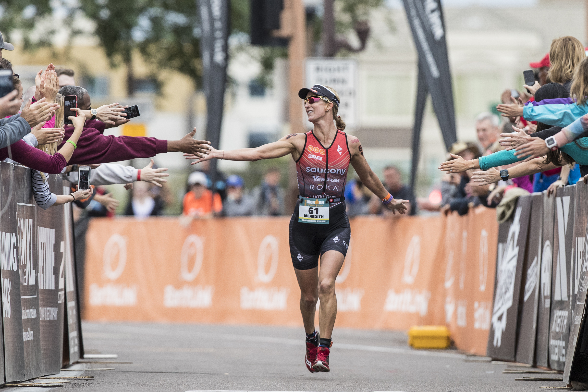 Meredith Kessler triathlete Ironman Arizona finishing chute