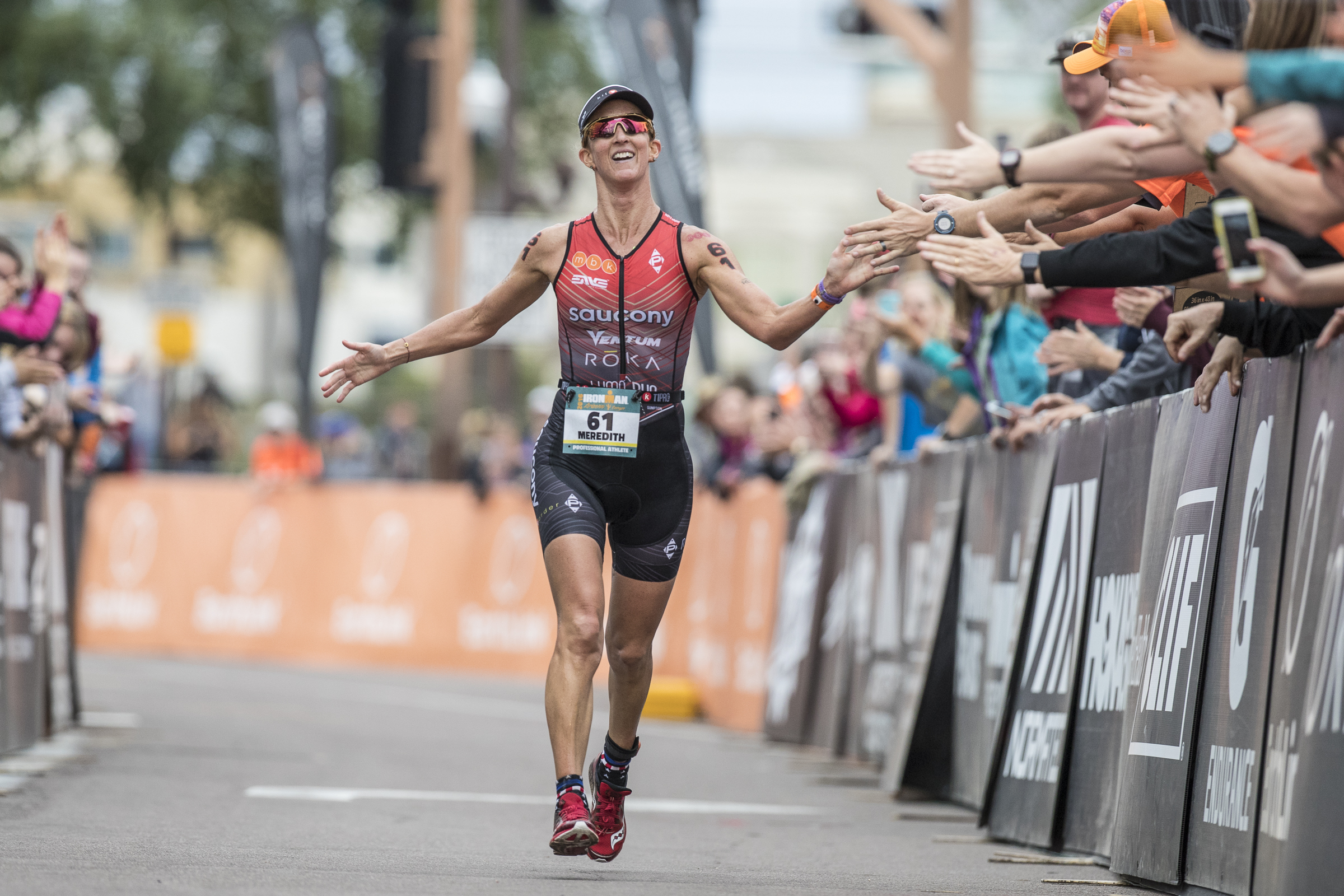 Meredith Kessler triathlon Ironman Arizona finishing chute