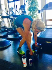 Meredith Kessler Triathlete Working Out with weights Red Bull