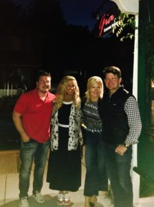 Meredith Kessler Triathlete dinner with friends