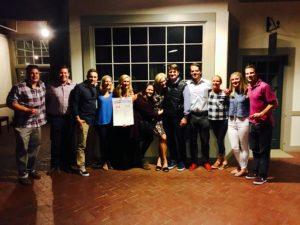 Meredith Kessler Triathlete Family and Friends Aaron Kessler Birthday Dinner