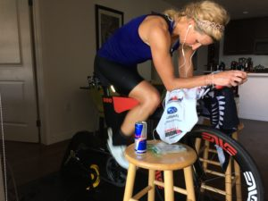 Meredith Kessler Triathlete Ventum Bike Red Bull CycleOps Hammer Trainer