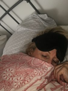 Meredith Kessler Triathlete Sleeping with Eye Mask