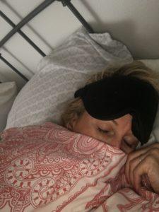 Meredith Kessler Triathlete Sleeping with Eye Mask