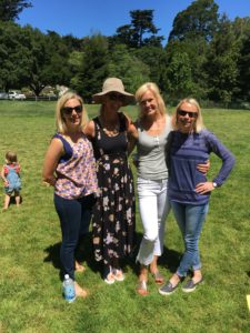 Meredith Kessler with friends at park in mill valley