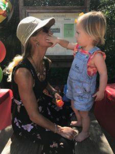 Meredith Kessler Triathlete With Niece in Mill Valley