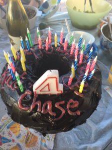 Meredith Kessler Triathlete Nephew Birthday Cake Turning 4