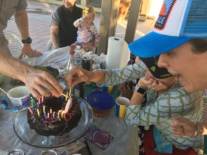 Meredith Kessler Triathlete Nephew Birthday Cake with Family