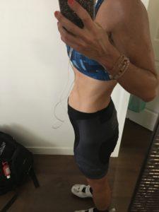 Meredith Kessler Triathlete Baby Bump Holding Phone