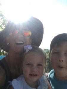 Meredith Kessler Triathlete With Niece and Nephew