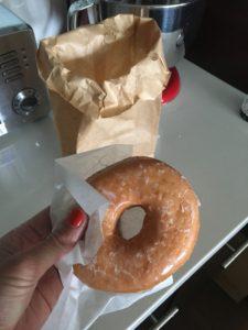 Meredith Kessler Triathlete Holding Glazed Doughnut
