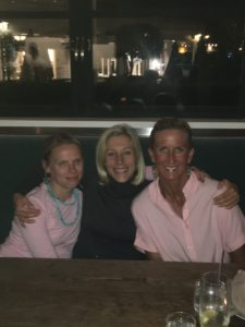 Meredith Kessler Triathlete With Friends at Dinner