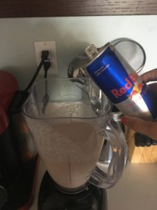 Meredith Kessler Triathlete Making Red Bull Shake