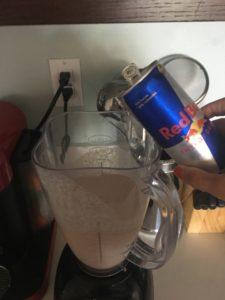 Meredith Kessler Triathlete Making Red Bull Shake