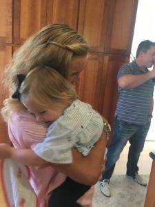 Meredith Kessler Triathlete Hugging Niece