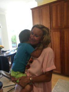 Meredith Kessler Triathlete Hugging Nephew