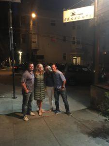 Meredith Kessler Triathlete With Family By Restaurant Frascati San Francisco