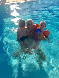Meredith Kessler Triathlete Family Swimming in Pool