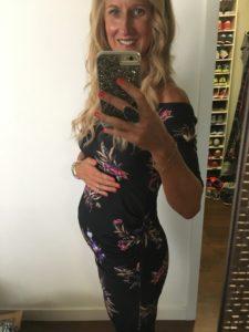 Meredith Kessler Dress and baby bump