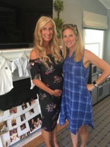 Meredith Kessler at baby shower with sister Kelsey