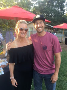 Meredith Kessler and Jonny Moseley ZÜPA NOMA superfood soup event at Sonoma Baseball game