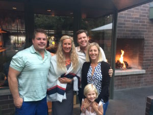 Meredith Kessler with friends at Hillstone's San Francisco