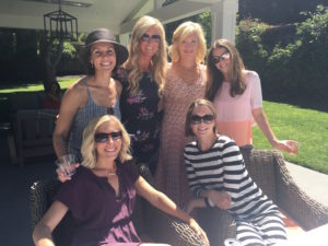 Meredith Kessler with friends at baby shower mill valley