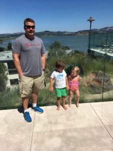 Meredith Kessler husband Aaron Kessler with niece and nephew