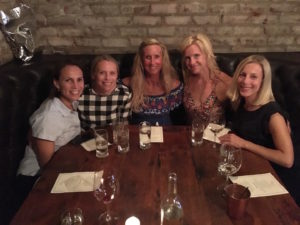 Meredith Kessler and friends girls night out mill valley