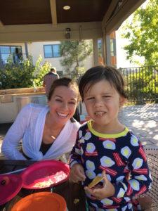 Meredith Kessler Kate Ligler nephew eating