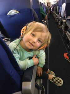 Meredith Kessler family on airplane to Columbus