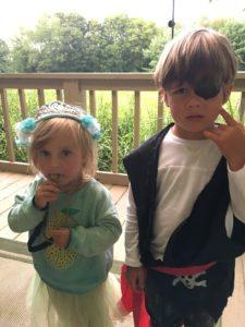 Meredith Kessler and niece and nephew in Sunbury Ohio