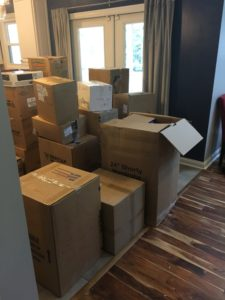 Meredith Kessler moving to Westerville Ohio and moving boxes