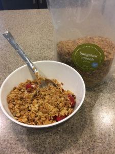 Meredith Kessler bowl of Bungalow Munch granola