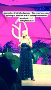 Meredith Kessler MindBodyGreen Revitalize Speaking engagement
