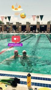 Meredith Kessler Hillary Biscay swimming in Arizona