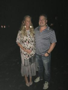 Meredith Kessler dress baby bump with husband